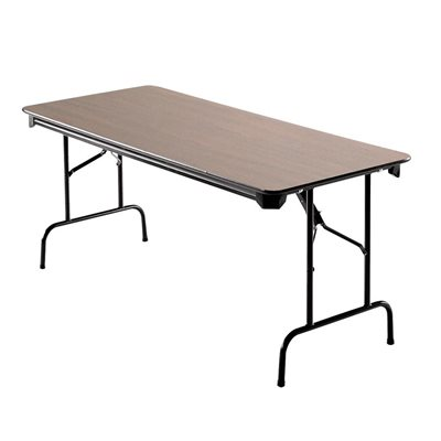 Table rectangulaire repliable